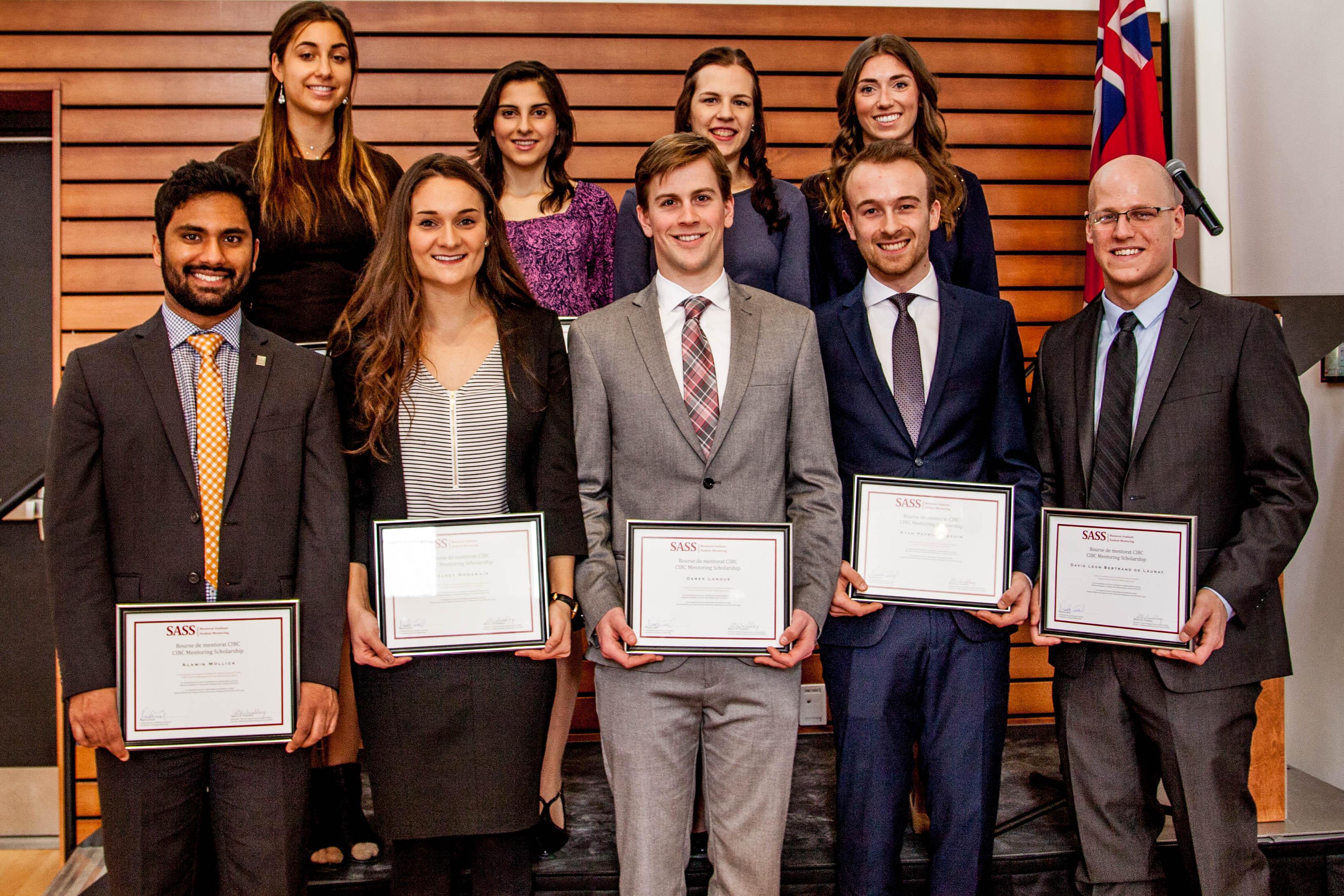 Récipiendaires de la bourse CIBC 2016-2017