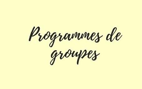 Programmes de groupes